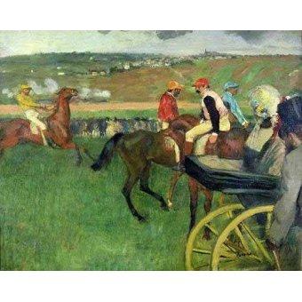 quadros de animais - Quadro -The race course- - Degas, Edgar
