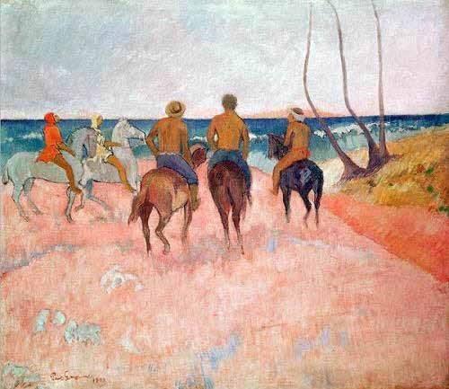 pinturas-de-retratos - Quadro -Hiva Hoa- - Gauguin, Paul