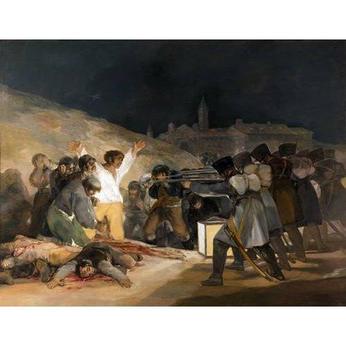 Quadro -Ejecución de los defensores de Madrid, 3 de mayo de 1808-