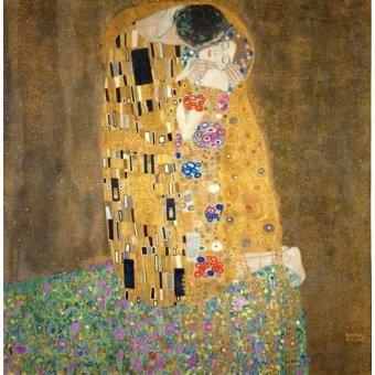 pinturas de retratos - Quadro -Quadro O beijo- - Klimt, Gustav