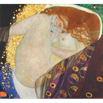 quadros nu artistico - Quadro -Danae- - Klimt, Gustav