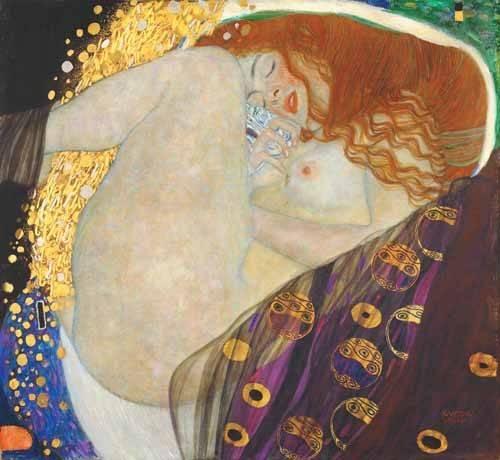 pinturas-de-retratos - Quadro -Danae- - Klimt, Gustav