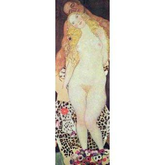 quadros nu artistico - Quadro -De Adão e Eva- - Klimt, Gustav