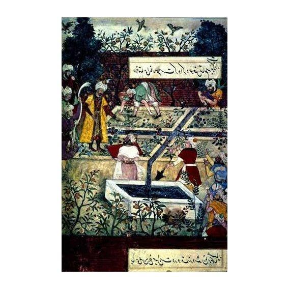 cuadros etnicos y oriente - Cuadro -Memorias de Babur, Emperador con su proyecto-