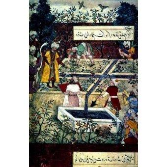 - Quadro -Memorias de Babur, Emperador con su proyecto- - Mughal