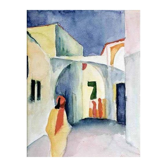 pinturas do retrato - Quadro -A Glance Down an Alley-