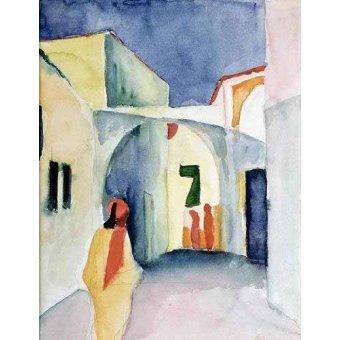 - Quadro -A Glance Down an Alley- - Macke, August