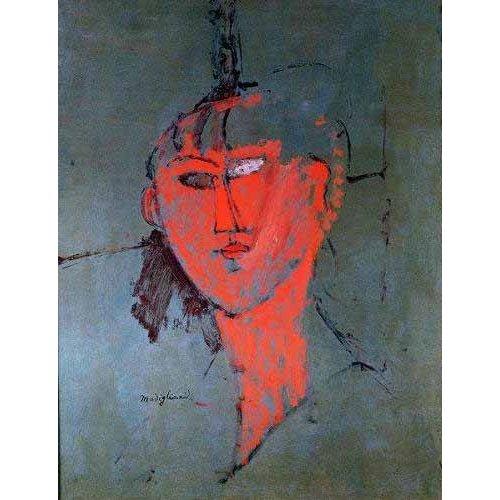 pinturas do retrato - Quadro -La cabeza roja-
