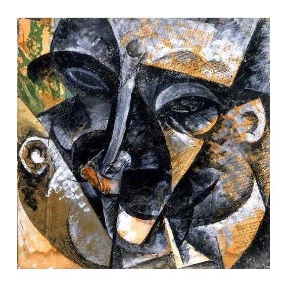 pinturas abstratas - Quadro -Composicion con cabeza de hombre-