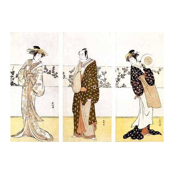 cuadros etnicos y oriente - Cuadro -Actores japoneses-