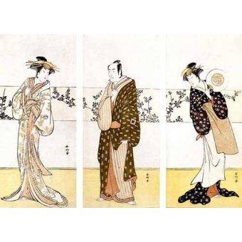 quadros étnicos e orientais - Quadro -Actores japoneses- - Sunko, Kaisukawa