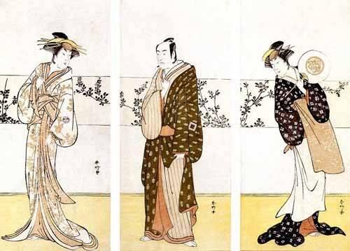 cuadros etnicos y oriente - Cuadro -Actores japoneses- - Sunko, Kaisukawa