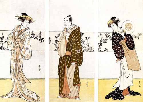 ethnic and oriental paintings - Picture -Actores japoneses- - Sunko, Kaisukawa