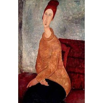 - Quadro -Jeanne Hebuterne in a Yellow Jumper- - Modigliani, Amedeo