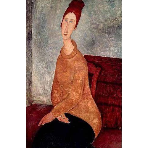 Quadro -Jeanne Hebuterne in a Yellow Jumper-
