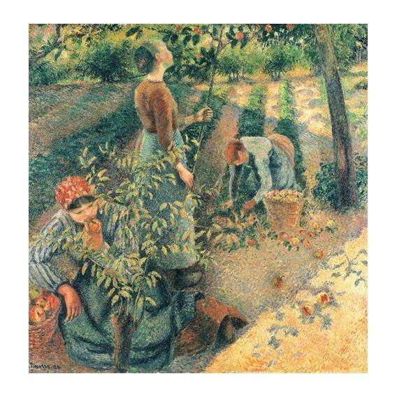 pinturas do retrato - Quadro -Las recolectoras de manzanas-
