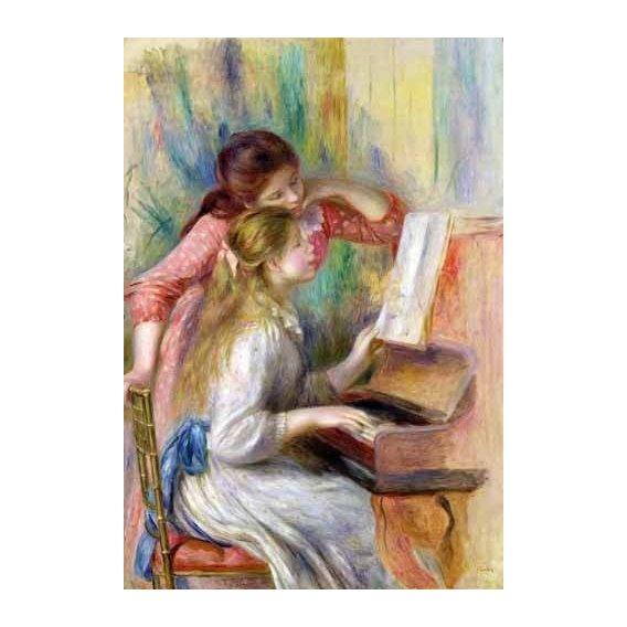 cuadros de retrato - Cuadro -Jovencitas al piano-