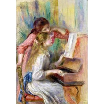 - Quadro -Jovencitas al piano- - Renoir, Pierre Auguste