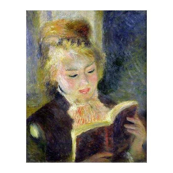 cuadros de retrato - Cuadro -Chica leyendo-