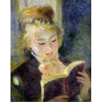 - Quadro -Chica leyendo- - Renoir, Pierre Auguste