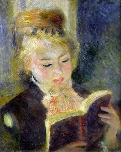 cuadros de retrato - Cuadro -Chica leyendo- - Renoir, Pierre Auguste