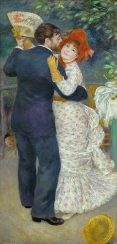 cuadros de retrato - Cuadro -A Dance in the Country- - Renoir, Pierre Auguste