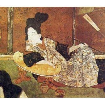 quadros étnicos e orientais - Quadro -jpk00081- - _Anónimo Japones