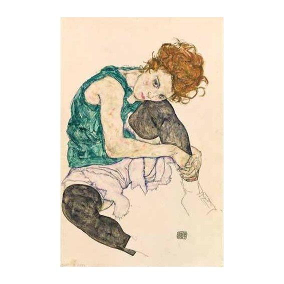 cuadros de retrato - Cuadro -Seated Woman with Bent Knee-