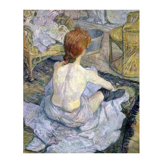 pinturas do retrato - Quadro -Mujer en su baño-