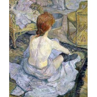 - Quadro -Mujer en su baño- - Toulouse-Lautrec, Henri de