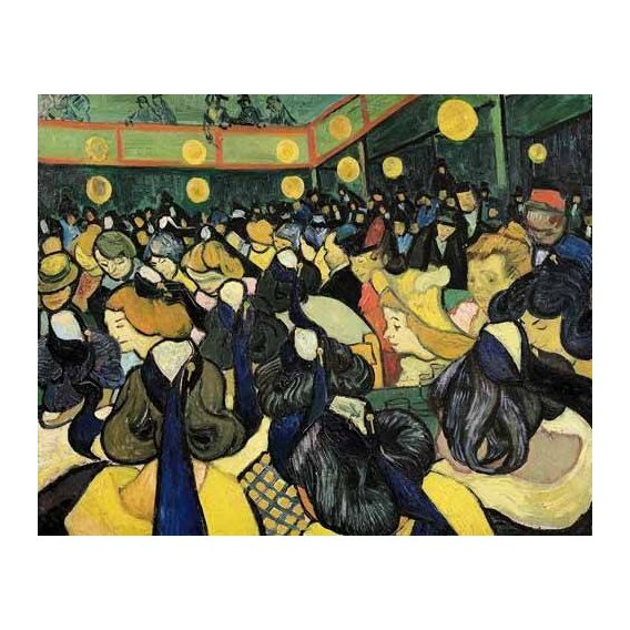 pinturas do retrato - Quadro -La sala de baile en Arles-