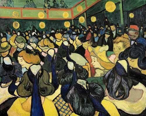 cuadros de retrato - Cuadro -La sala de baile en Arles- - Van Gogh, Vincent