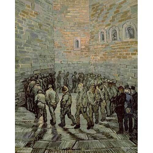 pinturas do retrato - Quadro -La prisión de los convictos-