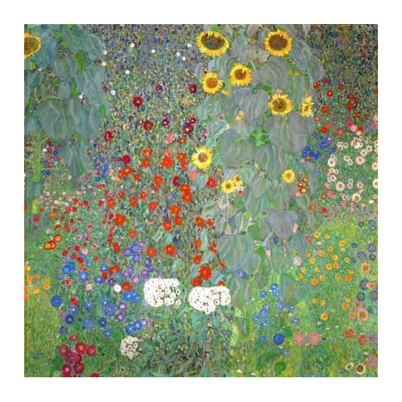 imagens de flores - Quadro -Jardín con girasoles-