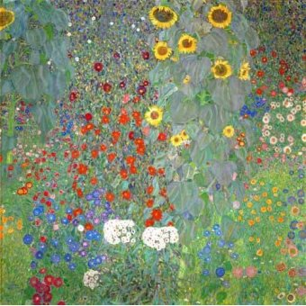 quadros de flores - Quadro -Jardín con girasoles- - Klimt, Gustav