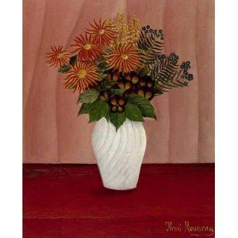 quadros de flores - Quadro -Flores- - Rousseau, Henri