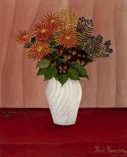 quadros-de-flores - Quadro -Flores- - Rousseau, Henri