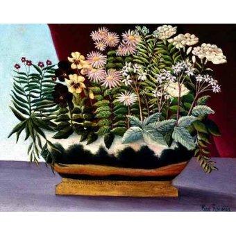 quadros de flores - Quadro -Banquete de Poeta- - Rousseau, Henri