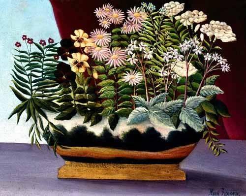 quadros-de-flores - Quadro -Banquete de Poeta- - Rousseau, Henri