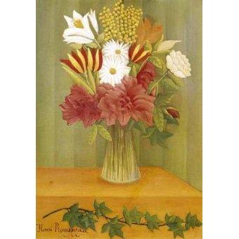 - Quadro -Ramo de flores- - Rousseau, Henri