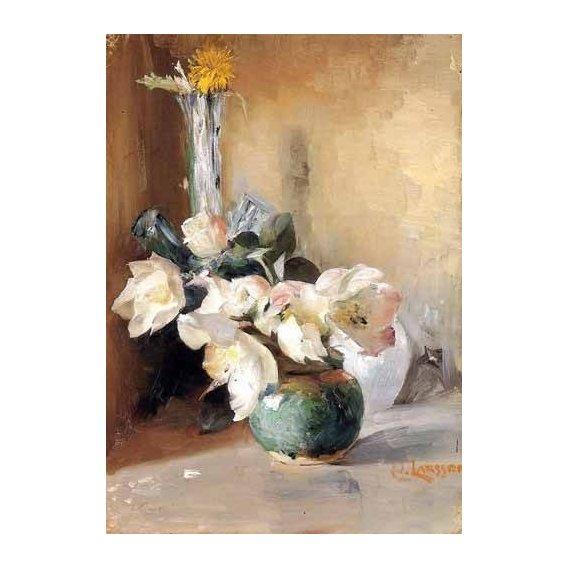 cuadros de flores - Cuadro -Rosas de Navidad-