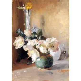 quadros de flores - Quadro -Rosas de Navidad- - Larsson, Carl