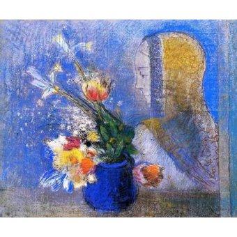 quadros de flores - Quadro -Meditation- - Redon, Odilon