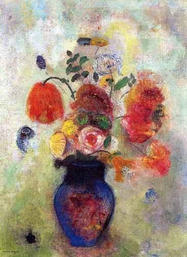 quadros-de-flores - Quadro -Ramo de Flores 2- - Redon, Odilon