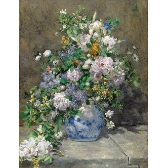 quadros de flores - Quadro -Ramo de Primavera- - Renoir, Pierre Auguste