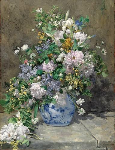 cuadros de flores - Cuadro -Ramo de Primavera- - Renoir, Pierre Auguste