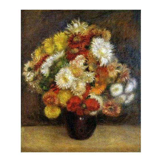 imagens de flores - Quadro -Ramo de Crisantemos-