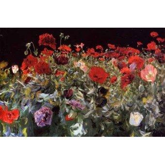 quadros de flores - Quadro -Amapolas- - Sargent, John Singer
