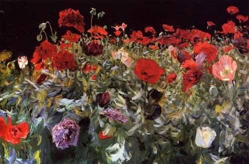 quadros-de-flores - Quadro -Amapolas- - Sargent, John Singer