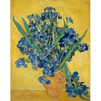 quadros de flores - Quadro -Lirios- - Van Gogh, Vincent